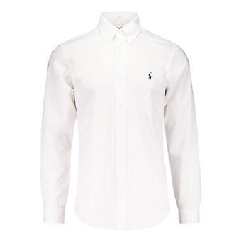 Ralph Lauren Polo Hemd weiß Popeline-Manschette