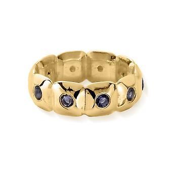 ChloBo Gold & Iolite Graceful Aura Ring