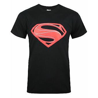 Superman Man of Steel Red Logo Miesten's T-paita