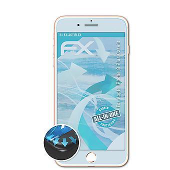 atFoliX 3x Protective Film compatível com Apple iPhone 8 Plus Casefit clear&flexible