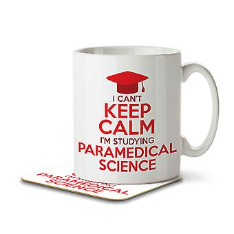 I Can't Keep Calm I'm Studying Paramedical Science - Mug and Coaster