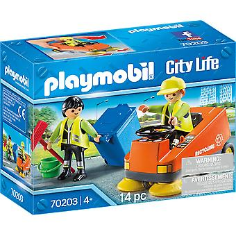 Playmobil 70203 City Life Street Sweeper 14PC Playset