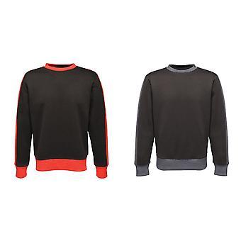 レガッタ メンズ コントラスト クルー セーター