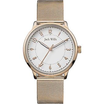 Jack Wills Watches Jw017whrs Women's Knowles Rose Gold Mesh Watch
