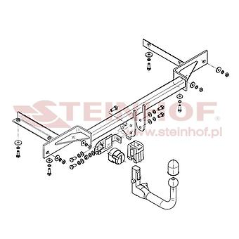 Steinhof Automatic Detachable Towbar (Vertical) for Chevrolet CRUZE 2011-2015