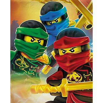 LEGO® Ninjago fertig Decke Fleece Decke 100x150cm