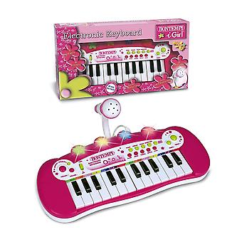 Bontempi Electric Keyboard avec microphone et Flashing Light Show Rose