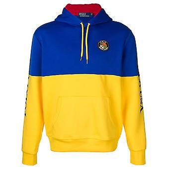 Ralph Lauren Ezcr012003 Men's Blue/yellow Cotton Sweatshirt