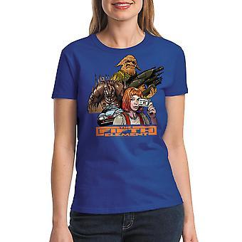 T-shirt bleu Royal le cinquième élément groupe féminin