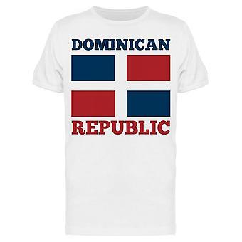 Bandeira da República Dominicana Tee Men's -Imagem por Shutterstock