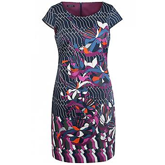 Bianca Floral Design Fitted Dress