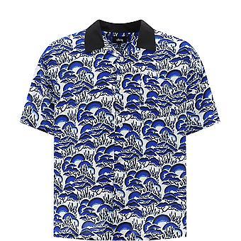 Stussy 1110105 blue Men-apos;s Blue Cotton Polo Shirt