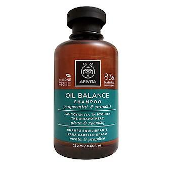 Apivita Oil Balance Shampoo with Peppermint & Propolis 8.45 OZ