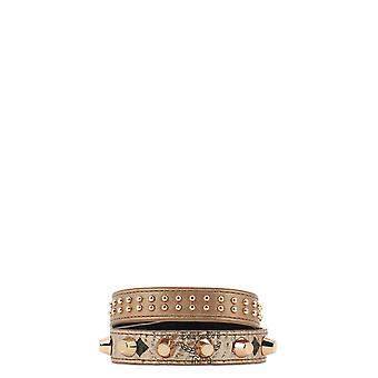 Mcm Mez9amm11 Women's Gold Leather Bracelet