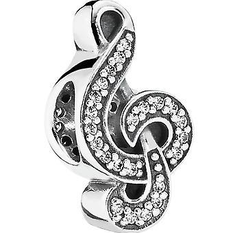 PANDORA Sweet Music Treble Clef - Clear CZ Charm - 791381CZ