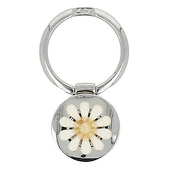 Ring Holder Flower Pattern 180? Rotatable Adhesive Surface Kickstand- Silver