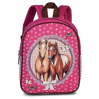 Fabrizio Kids Horses Sac à dos 29 cm, Rose