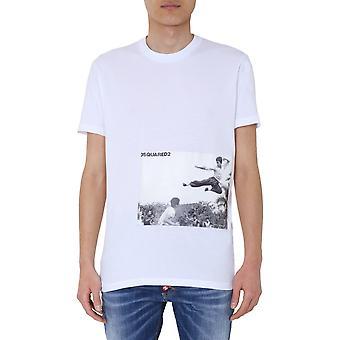 Dsquared2 S71gd0894s21600100 Miesten's Valkoinen Puuvilla T-paita