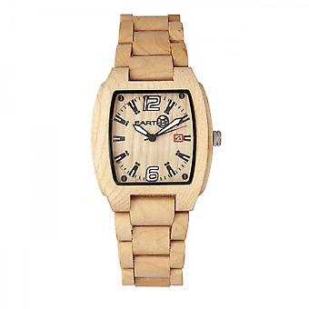 Jorden trä Sagano armband Watch w/datum-Khaki/Tan