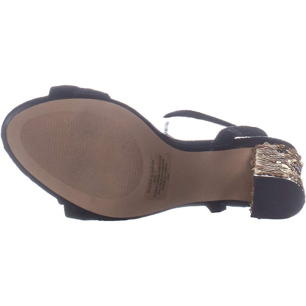 Betsey Johnson Odzież tkaniny Iliana Open Toe dorywczo kostki pasek sandały S7yo8