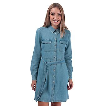 Women's French Connection Avery Denim Belted Shirt Dress in Blue