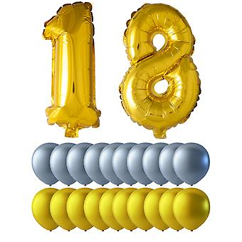 Birthday Mix 18 years Gold/Silver
