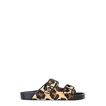 L'autre Koos Osl18820gp2977g133 Dames's Leopard Leather Sandals