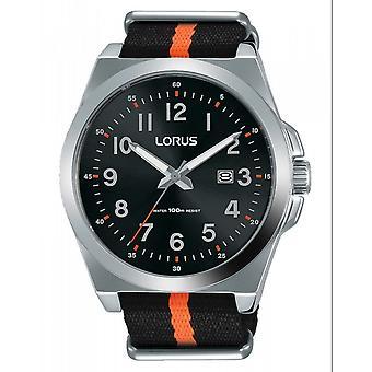 Lorus RH941KX-9 Svart nylon tyg rem armbandsur