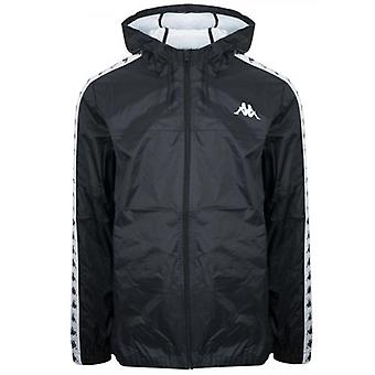 Kappa Black Dawson 222 Banda Hooded Jacket