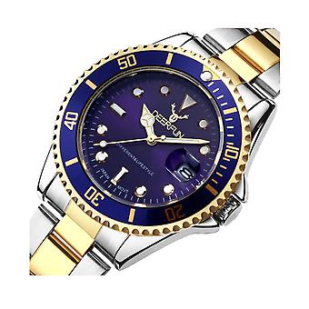 Genuine Deerfun Homage Watch Blue Silver Gold Date Watches Top Quality Sale Stock
