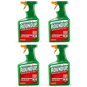 Sparset: 4 x ROUNDUP® AC, 1 litre