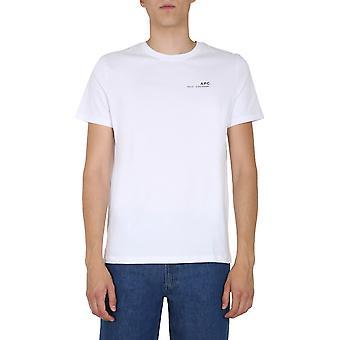 A.p.c. Coedah26904aab Men's White Cotton T-shirt