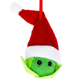 12cm Santa Sprout Fabric Christmas Tree Bauble Hanging Ornament - Gisela Graham