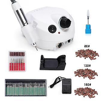 Pro Electric Nail Drill Manicure Machine Set - Nail Art Udstyr