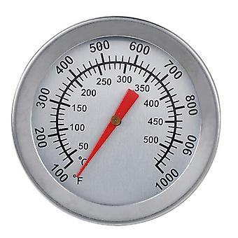 Stainless Steel Bbq Smoker Pit Bimetallic Grill Thermometer Temp Gauge With Dual Gage 500 Degree Convenierernt Cooking