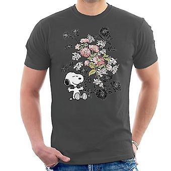 Pinda's Snoopy bloemen T-Shirt voor mannen