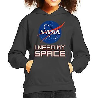 NASA I Need My Space Kid's Hooded Sweatshirt