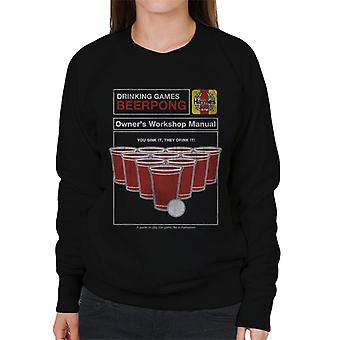 Haynes Beerpong Workshop Manuell Dame's Sweatshirt