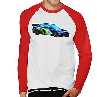 Motorsport Images Makinen Subaru Impreza WRC Hommes-apos;s Baseball Long Sleeved T-Shirt