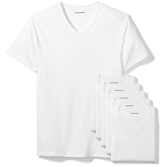 Essentials Män & apos, s 6-Pack V-Neck Undershirts, Vit, Stor