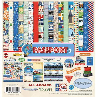 Kit de coleção Carta Bella Passport 12x12 Polegadas