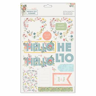 Papermania Freshly Cut Flowers A4 Decoupage Pack Hello