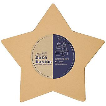 Papermania Bare Basics Star Nesting Boxes (S/M/L) (PMA 174014)