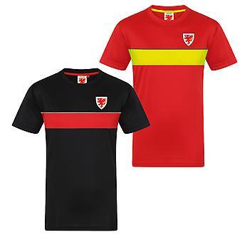 Wales Cymru FAW Officiel Football Gift Mens Poly Training Kit T-Shirt