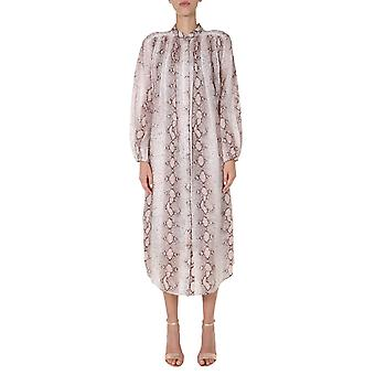 Zimmermann 8895dbtdsnk Women's Beige Cotton Dress