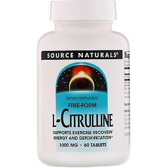 Fonte Naturali, L-Citrulline, 1000 mg, 60 Compresse