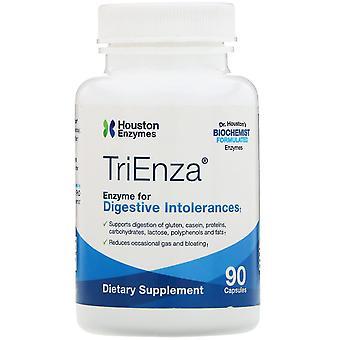 Houston Enzymes, TriEnza, Enzyme pour les intolérances digestives, 90 capsules