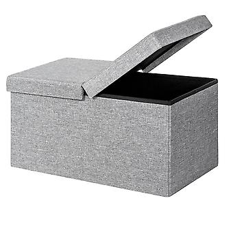 Folding Storage Ottoman Box Pouffe Seat Foot Stool Bench with Lift Top Home