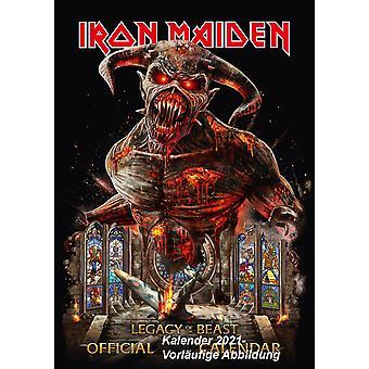 Iron Maiden Calendar 2021 Official Calendar 2021, 12 Months, A3, original English version.