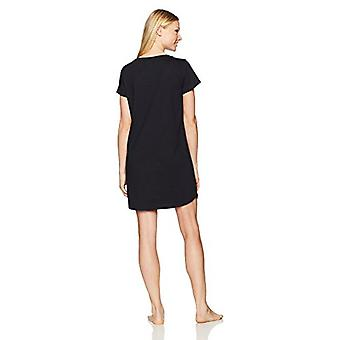 Brand - Mae Women's Sleepwear Pocket Nightgown, Black, M